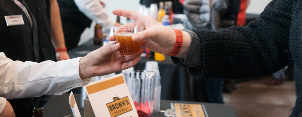 Enjoy local and regional brews at the Craft Beer Garden